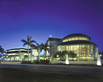 The Kravis Center at night